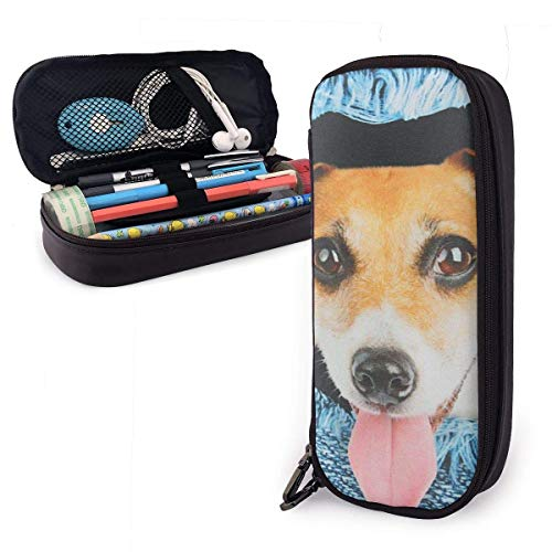 Yuanmeiju Cowboy Dog Estuche for Boys and Girls Large Pencil Pouch Holder Pen Case for Student College School Supplies & Office