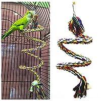 オウム鳥のおもちゃロープ編みペットオウムチューロープバッジーパーチコイルケージオカメインコおもちゃペット鳥トレーニングアクセサリー-16