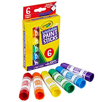 Crayola Washable Paint Sticks No Water Required Paint Set for Kids Art Supplies 6 Count Multi