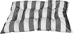 "PROLINEMAX Silver/White Stripe 40"" x 30"" x 6"" Polyester Replacement Cushion Pillow Wicker Swing Chair Throw Sun Bed Rectangular"