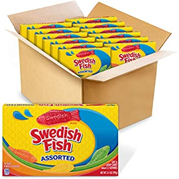 SWEDISH FISH Assorted Soft & Chewy Candy 12 - 3.5 oz Boxes