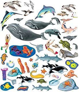 Little Folk Visuals Sea Life Precut Flannel/Felt Board Figures, 40 Pieces Set