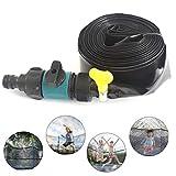 Trampoline Sprinkler extérieur brumisation Système de refroidissement Jeu d'eau Gicleurs trampoline Easy Set ligne 12M brumisation + 25 attaches de câble pour l'arrosage Patio