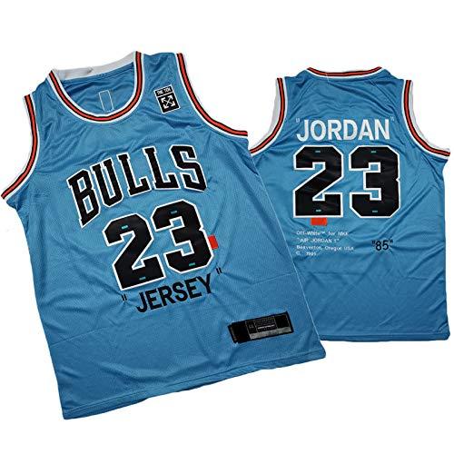 Jordan 23# Jersey Basketball für Männer Bulls Classic 85 Jahre Ausgabe Training Kleidung (S-2XL) Blue Lake-XL