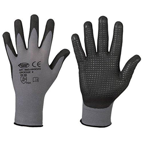 Nitril-Handschuhe Handan Genoppt | Nahtlos | Größe 6-11 | Griffig | EN 388 | Flexibler Arbeitshandschuh | Top Preis Top Qualität (7)