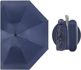 1pc practical Portable Mini Capsule Umbrella Ultra Light Sunscreen Sun UV Protection eco friendly,Navy