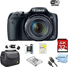 Canon Powershot SX530 HS - Cámara digital WiFi de 16 MP con zoom óptico de 50 aumentos, incluye bolsa de cámara de lujo, tarjetas de memoria de 32 GB, batería extra, trípode, lector de tarjetas, cable HDMI y más