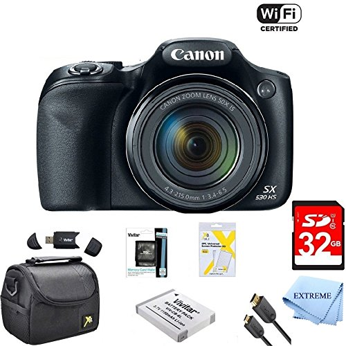 Buy Cheap Canon Powershot SX530 HS 16MP Wi-Fi Super-Zoom Digital Camera 50x Optical Zoom Ultimate Bu...