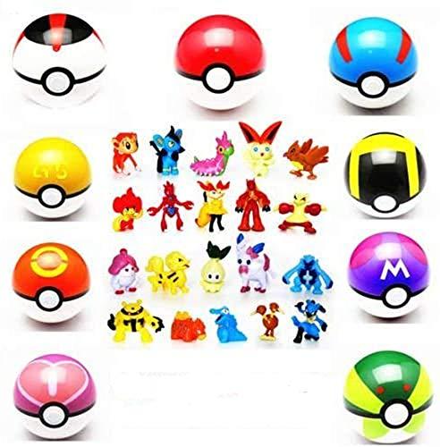 Lsxszz8 Pokemon Spielzeug, 9 Stuck Pokemon Ball+ 24Stuck Pokemon Action Fiquren. PokemonBalls with Fiqures