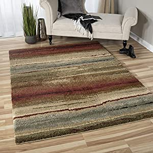 Orian Rugs 1631 Wild Weave Dusk to Dawn Area Rug, 5'3″ x 7'6″, Multicolor