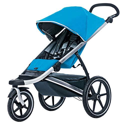 Silla de Paseo Ligero Trotar Cochecito Dosel para Bebes carritos Compacto y Plegable con una Sola Mano con Visera desplegable para Viajes y más,Blue