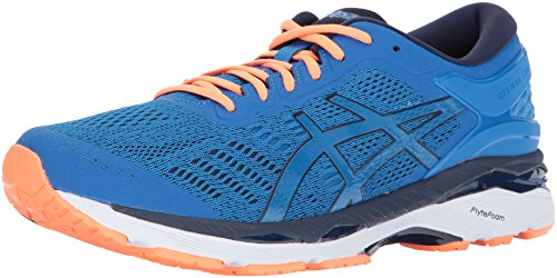 ASICS Mens Gel-Kayano 24, Zapatillas para Correr Hombre, Directoire Blue Peacoat Hot Orange, 41.5 EU