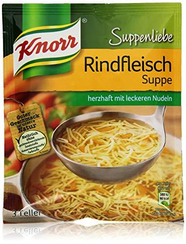 Knorr Suppenliebe Fertigsuppe Rindfleisch Suppe, 3 Portionen, 76g