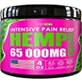 Hemp Cream for Arthritis Pain Relief - Extra Strength Hemp Pain Relief Cream 65000mg - Made in USA from Manufactured for swizon