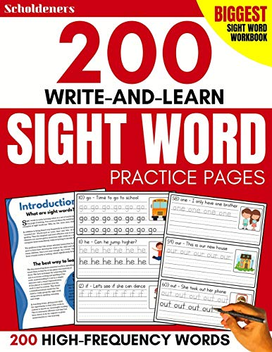 200 Write-and-Learn Sight Word Practice Pages: Learn the Top 200 High-Frequency Words Essential to Reading and Writing Success (Sight Word Books)