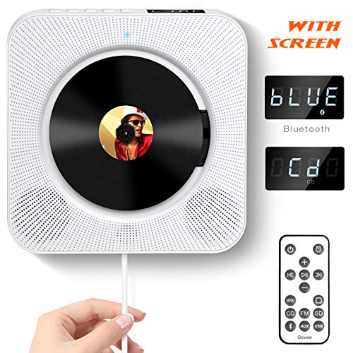 CD Player with Bluetooth, Govee Portable CD Player with Remote Control Wall Mountable CD Player...
