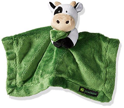 John Deere Baby Boys' Cow Cuddle Blanket, Green, One Size