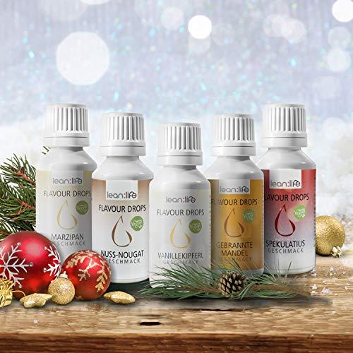 Flave Drops | Flavor Drop | Flavour Drops | VEGAN | ZUCKERFREI | Weight Watchers | Aroma Tropfen für Quark, Joghurt und zum backen| 30ml (Weihnachts Mix 2020)