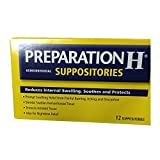 Preparation H Hemorrhoidal Suppositories 12 ea (Pack of 3)