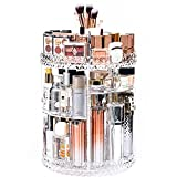 DreamGenius Makeup Organizer, 360 Degree Rotating Cosmetic Storage Organizer, 7-Layer Adjustable Makeup Display Case, Fits Jewelry Makeup Brushes and Lipsticks, Clear Acrylic
