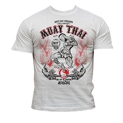 Dirty Ray Kampfsport MMA Muay Thai Herren Kurzarm T-Shirt K9 (XXL)
