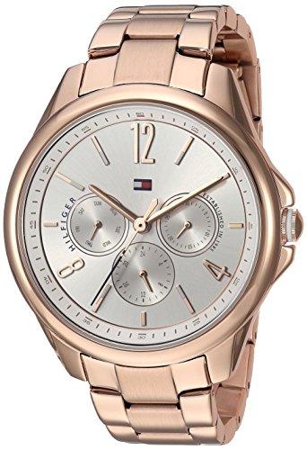 Tommy Hilfiger Damen Multi Zifferblatt Quarz Uhr mit Edelstahl Armband 1781824