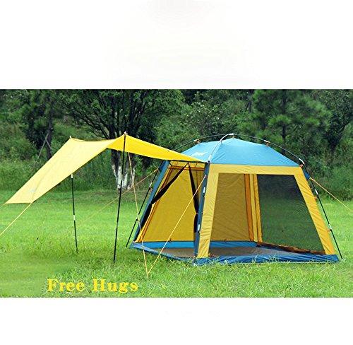 MUYUNXI Anti-muggen Toerisme outdoor tent 3-4 persoon familie suite 2 stapelbed regen en zon camping auto paar dfa Camping Tent