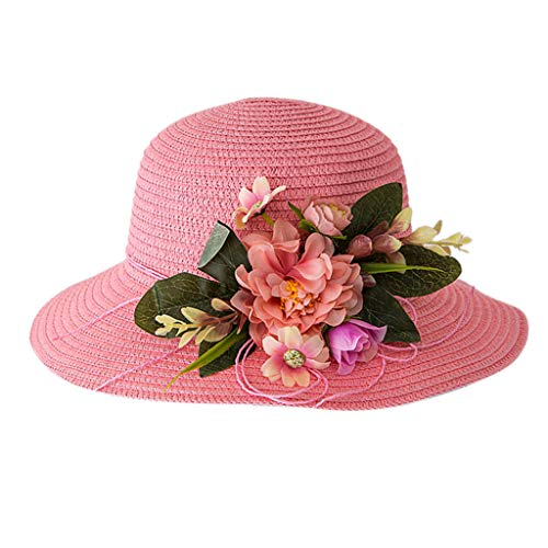 Julhold Sommer Baby 2019 Neue Nette Blume Atmungshütte Stroh Sonnenhütte Kinderhütte Junge Mädchen Polyester Hüte 6 Farbe