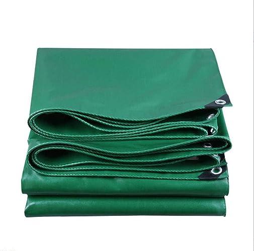 MYMAO 001Tissu Enduit de PVC de bache imperméable, boutonnière Facile à Plier Le Tissu de Film Isolant de bache de polyéthylène PE,4x7m