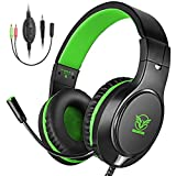 Comsoon Gaming Headset Compatible with Xbox One PS4, Noise Cancelling Bass Surround Sound Over-Ear Gaming Headphones with Mic, 3.5mm Jack, Volume Control Compatible with Laptop PC Mac Nintendo Switch