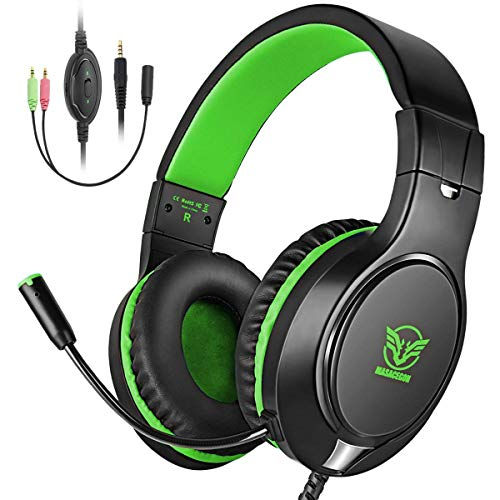 Comsoon Gaming Headset for Xbox One/PS4, Noise Cancelling Bass Surround Sound Over-Ear Gaming Headphones with Mic, 3.5mm Jack, Volume Control for Laptop PC Mac Nintendo Switch Categories