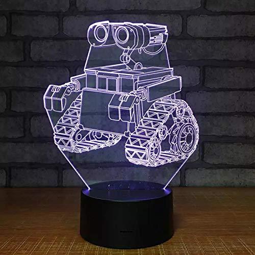 Dibujos animados 3DLED tractor luz de noche creativa decoración del hogar luz colorida de control remoto