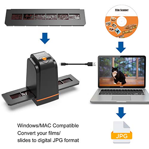 Scanner de Diapositives et Négatifs 35 mm Haute résolution convertit Les Diapositives et Films...