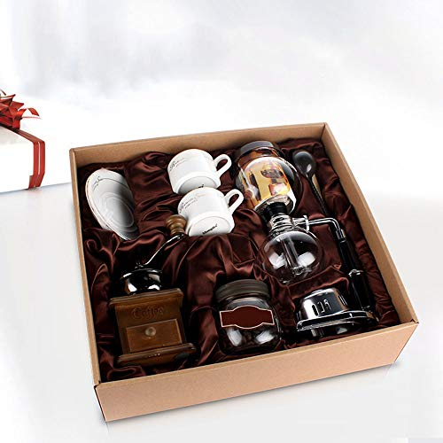 ZGY Coffee Pot Set, Household Glass Manual Coffee Machine Grinder, A Complete Coffee Machine is Best for Gift Giving