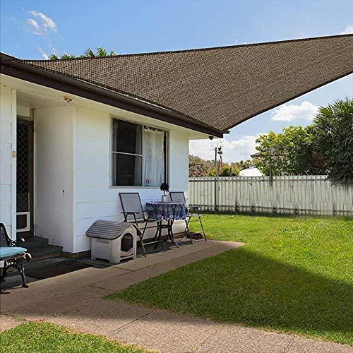 Toldo triangular, impermeable, protección solar, lona de sombra, impermeable, protección UV, para jardín al aire libre, con cuerdas y kit de fijación