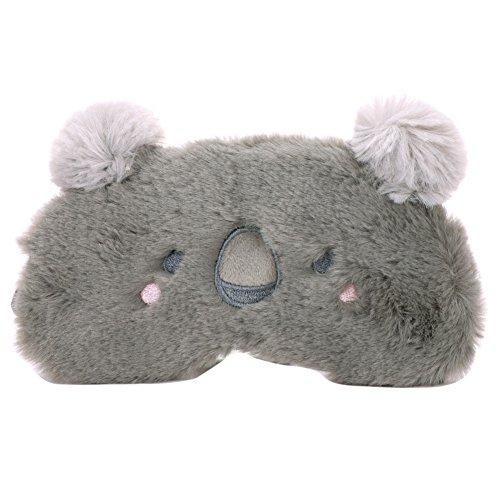ITODA Augenmaske Weiche Schlafmaske mit Plüschtiere Muster, Koala, 18 x 10 cm(LxB)