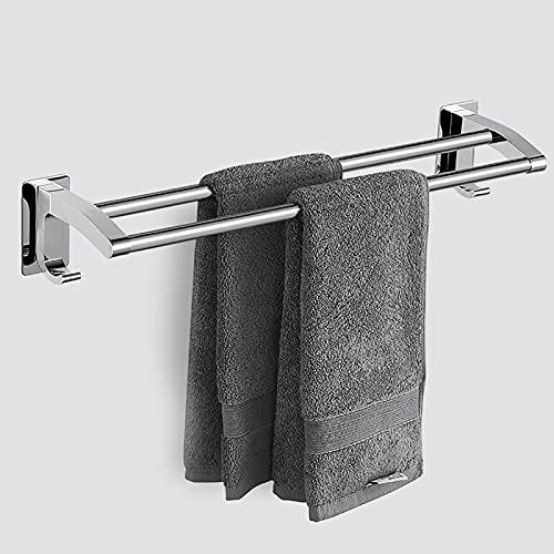 Barra de toalla de baño, barra única creativa, soporte de toalla Acabado cepillado Montaje en pared Barra de toalla de baño Estante de acero inoxidable construido a prueba de óxido sin perforaciones