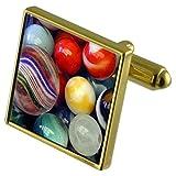 Select Gifts Jugando canicas de color oro-tono gemelos en la bolsa