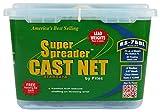 Fitec RS750-L Super Spreader Cast Net Clear 7' Radius, 3/8' mesh, 3/4 Lb Lead WTS