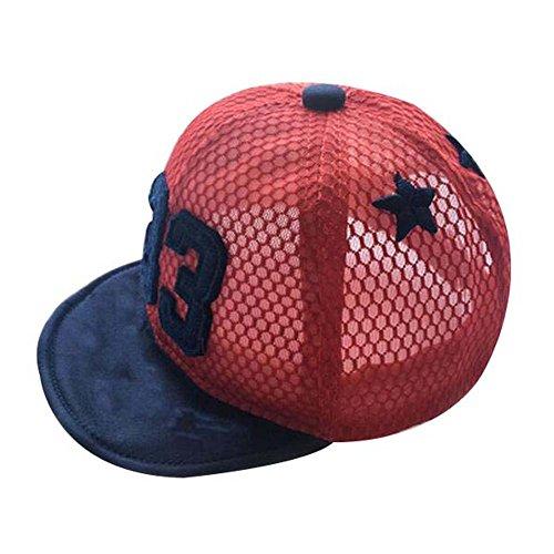 Grand cadeau pour bébé Mode Sunhat chapeau de plage pliable chapeau d'été chapeau de coton rouge