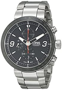 Oris Men's 01 674 7659 4174 07 8 25 10 TT1 Chrono Black Dial Watch image