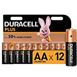 Duracell Plus, lot de 12 piles alcalines Type AA 1,5 Volts LR6 MX1500