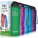 HoneyHolly Botella de Agua Deportiva Sin BPA 650ml/800ml/1 litro/1.5 litro Reutilizables Ecológica...