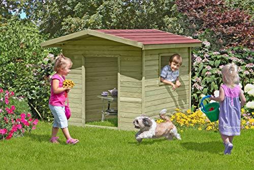 Gartenpirat Spielhaus Lilli für draussen Kinderhaus aus Holz für den Garten