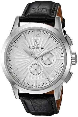 S.Coifman SC0260 Orologio da Polso, Display Cronografo, Uomo, Bracciale Pelle, Nero