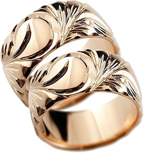[アトラス]Atrus リング レディース ペア 2本セット 結婚指輪 ピンキーリング 10金 ピンクゴールドリング 幅広 指輪 ピンキーリング ハワイアンジュエリー 地金 マイレ スクロール ストレート