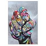 Malerei Street Graffiti Art Stärke und Faust Poster und