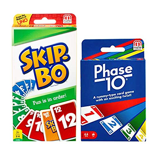 Mattel Phase 10 Card Game with Skip-Bo Card Game