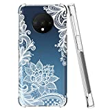 Sidande OnePlus 7T Case, Shockproof Clear Floral Soft Flexible TPU Slim Phone Protective Case Cover for One Plus 7T (Mandala)