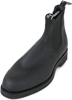 R.M. Williams Men's Gardener Black Leather Chelsea Boot, Black Leather Boots, RM Williams Boots, Men's Boots, 45 Black